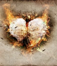 Burning Paper Heart